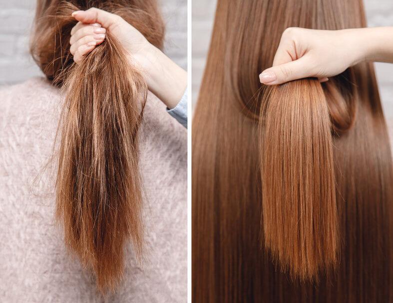 טיפול קרטין לשיער יבש