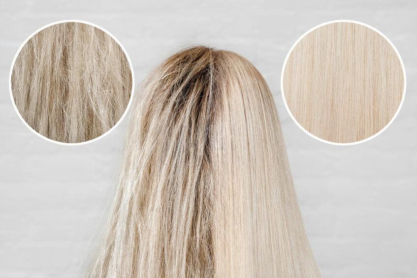 שיער פגום לעומת שיער בריא