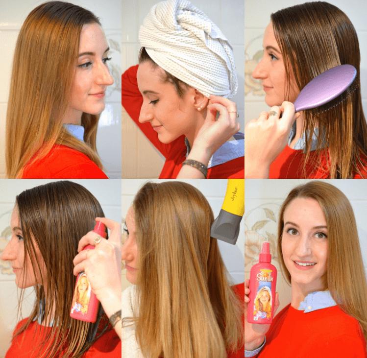 איך לעשות סאן אין בשיער