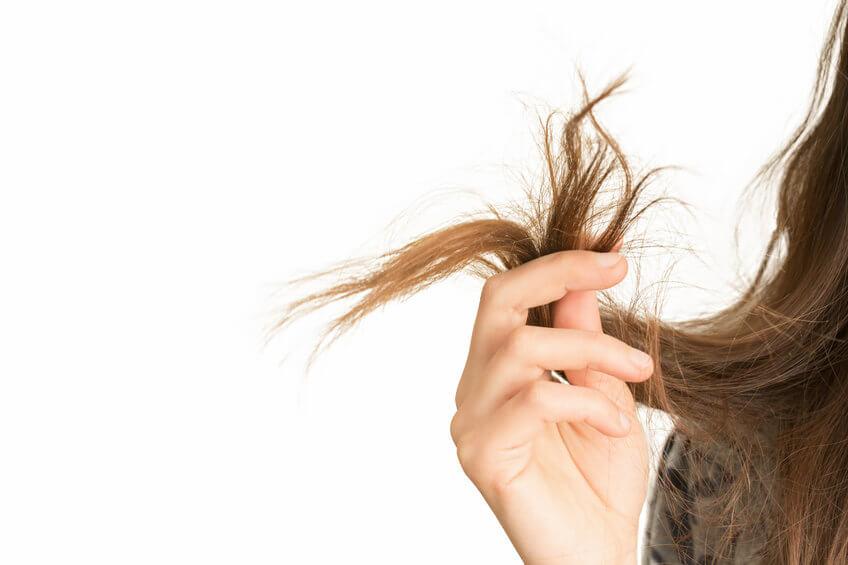 קצוות מפוצלים עקב הבהרת וצביעת שיער