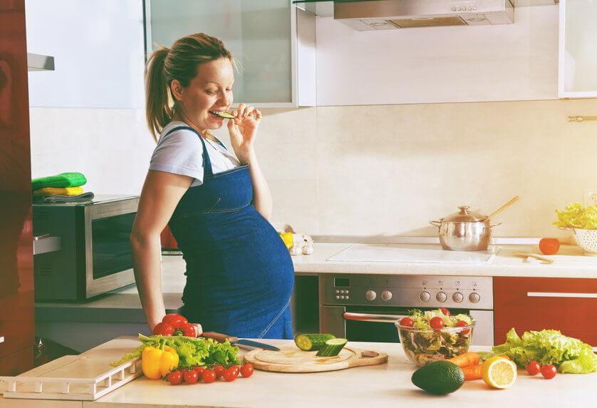 ירקות ופירות בהיריון